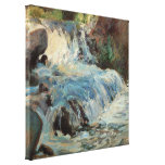 The Waterfall by Twachtman, Vintage Impressionism Canvas Print