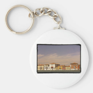 The waterfront houses, Venice, Italy. Basic Round Button Keychain