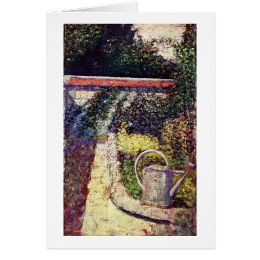 The Watering Can By Georges Seurat Greeting Card