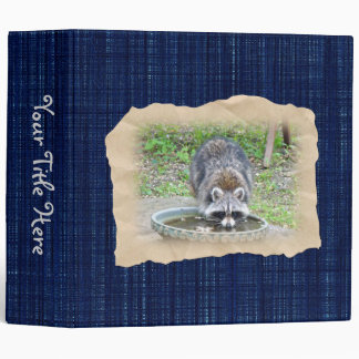 The Watering Hole - Raccoon 3 Ring Binders