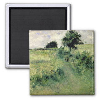 The Watering-place, 1873 (oil on canvas) 2 Inch Square Magnet