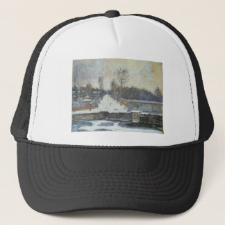 The Watering Place at Marly le Roi in Winter Trucker Hat