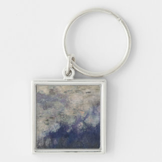 The Waterlilies - The Clouds  1915-26 Silver-Colored Square Keychain