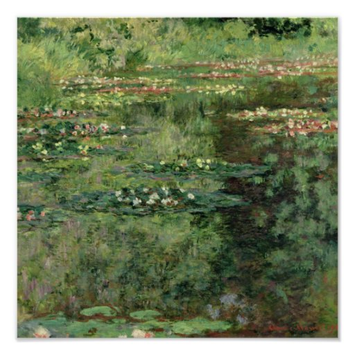 The Waterlily Pond 1904 Posters Zazzle