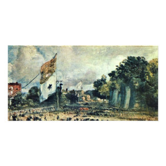 The Waterloo Festival In East Bergholt By Constabl Photo Card Template