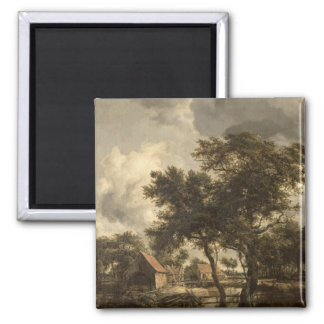 The Watermill, c.1660 2 Inch Square Magnet