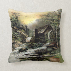 The Watermill Throw Pillow