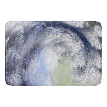 Beach Themed The Wave Bathroom Mat
