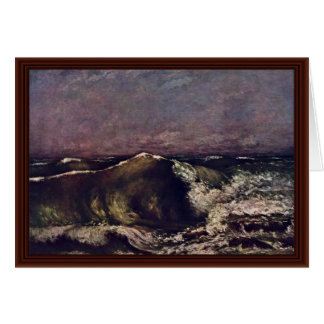 The Wave By Courbet Gustave Cards