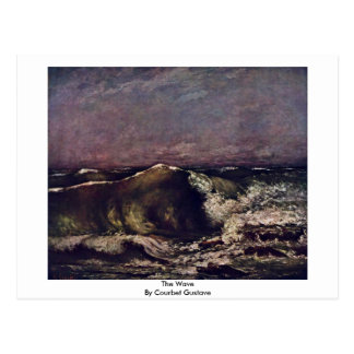 The Wave By Courbet Gustave Postcard