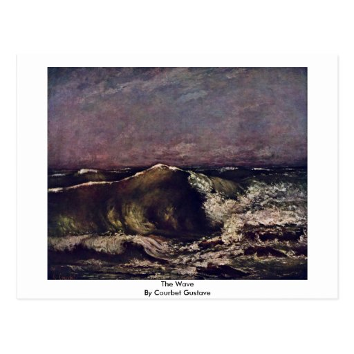 The Wave By Courbet Gustave Post Card