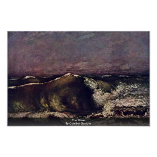 The Wave By Courbet Gustave Poster