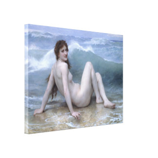 The Wave by William-Adolphe Bouguereau Canvas Print