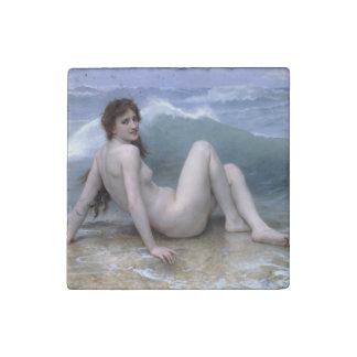 The Wave by William-Adolphe Bouguereau Stone Magnet