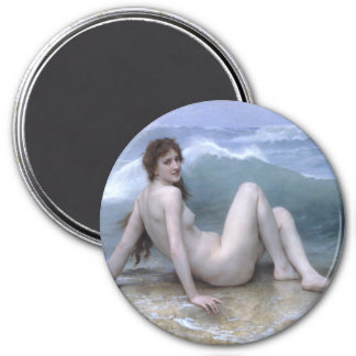 The Wave by William-Adolphe Bouguereau Refrigerator Magnet