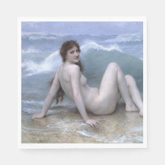 The Wave by William-Adolphe Bouguereau Napkin