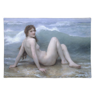 The Wave by William-Adolphe Bouguereau Cloth Placemat