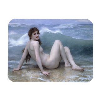 The Wave by William-Adolphe Bouguereau Rectangle Magnet