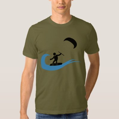 The wave cool kitesurfing icon t shirt