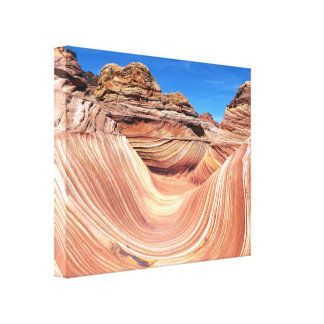 The Wave, Coyote Butte North, Vermillion Cliffs Canvas Print