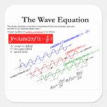 The Wave Equation Pegatina Cuadrada
