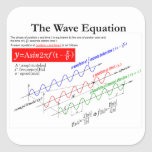 The Wave Equation Square Sticker