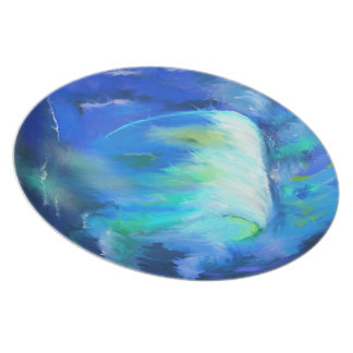 The Wave Surf Abstract Dinner Plate