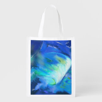 The Wave Surf Abstract Reusable Grocery Bag