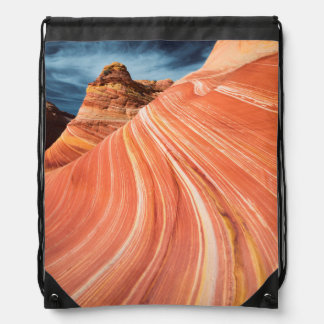 The wave, vermilion cliffs, Arizona Drawstring Bag
