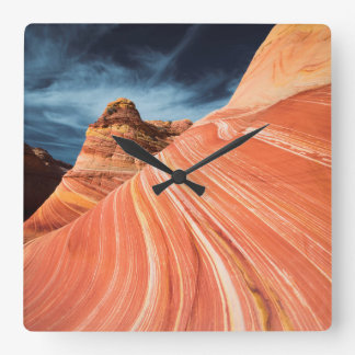 The wave, vermilion cliffs, Arizona Square Wall Clock