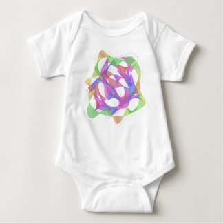 The wave which draws colorful curved line beautifu baby bodysuit