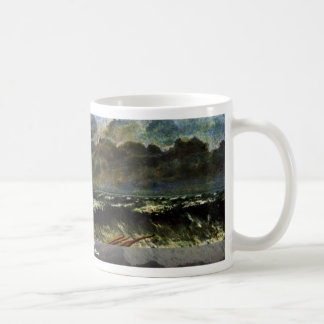The Waves By Courbet Gustave Classic White Coffee Mug