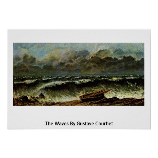 The Waves By Gustave Courbet Print