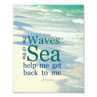 The Waves of the Sea Literary Quote Photo Print