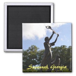 The Waving Girl,Savannah, Georgia Magnets