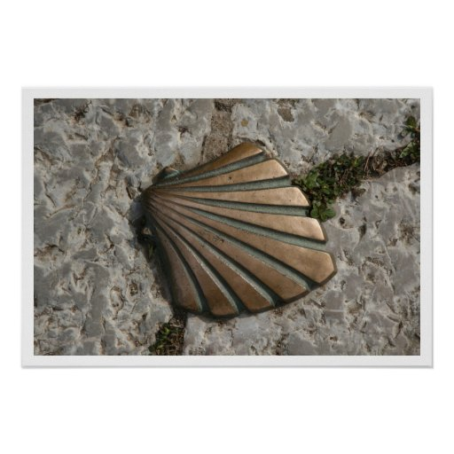 The Way of James, Scallop Route Marker Print