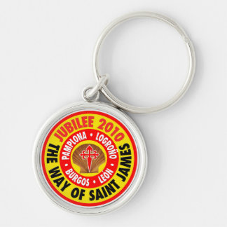 The Way of Saint James 2010 Silver-Colored Round Keychain