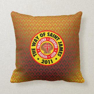 The Way of Saint James 2011 Throw Pillow