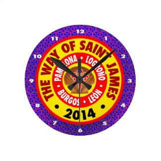 The Way of Saint James 2014 Round Clock
