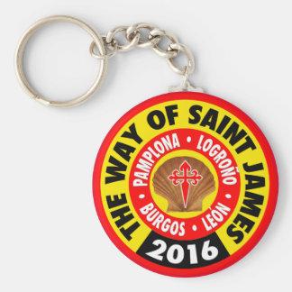 The Way of Saint James 2016 Basic Round Button Keychain