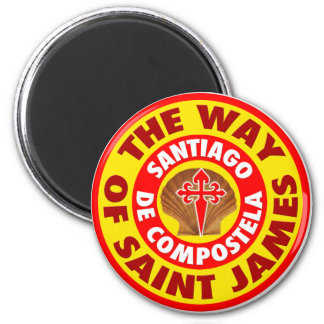 The Way of Saint James 2 Inch Round Magnet