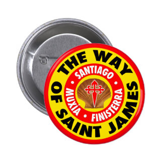 The Way of Saint James Pinback Button