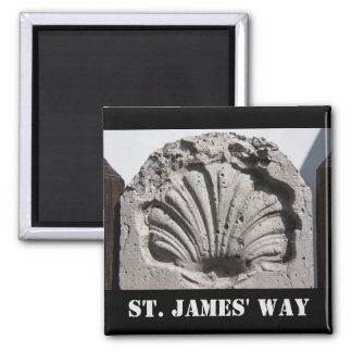 The Way of St. James, Scallop Route Marker Fridge Magnets