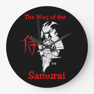 """""""The Way Of The Samurai""""  by Carter L. Shepard Large Clock"""