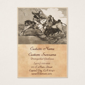 The way the ancient Spaniards baited the bull Business Card