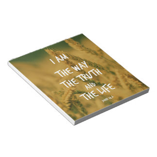 The way the Truth The Life Bible Verse Note Pad