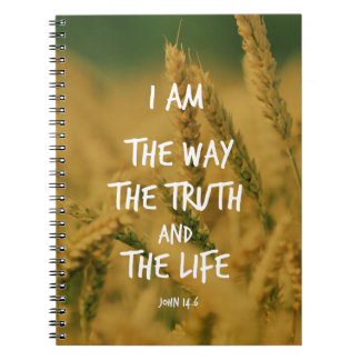 The way the Truth The Life Bible Verse Spiral Notebook