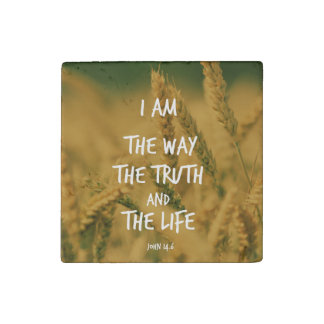 The way the Truth The Life Bible Verse Stone Magnet