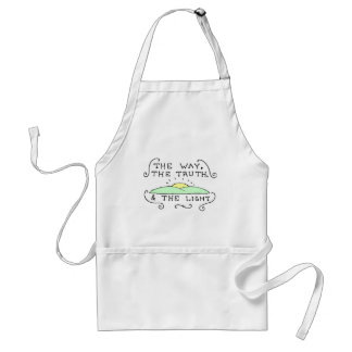 The Way The Truth The Light Adult Apron