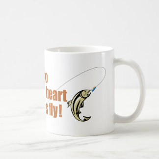 The way to a fisherman´s heart is through his fly, coffee mug